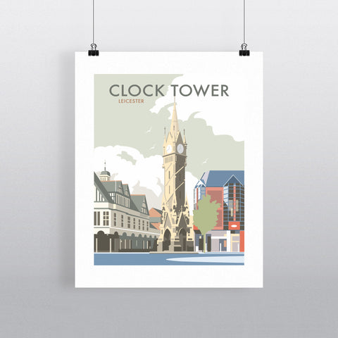 THOMPSON523: Clock Tower Leicester. Greeting Card 6x6