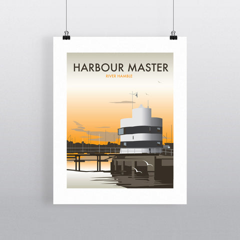 THOMPSON525: Harbour Master River Hamble. Greeting Card 6x6