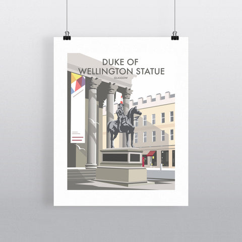 THOMPSON527: Duke Of Wellington Statue Glasgow. Greeting Card 6x6