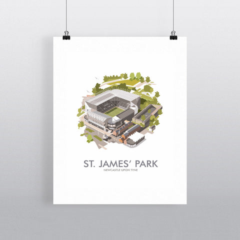 THOMPSON528: St James' Park Newcastle. Greeting Card 6x6