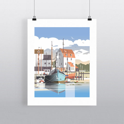 THOMPSON529: Tide Mill Woodbridge. Greeting Card 6x6