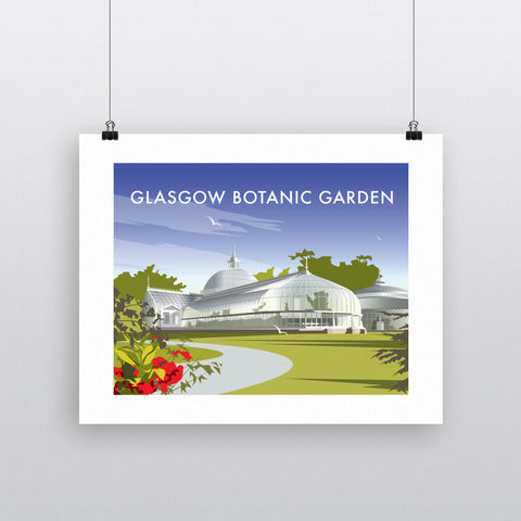 THOMPSON530: Glasgow Botanic Garden. Greeting Card 6x6