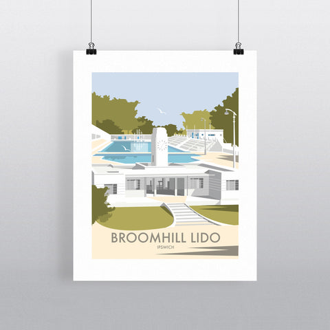 THOMPSON535: Broomhill Lido Ipswich. Greeting Card 6x6