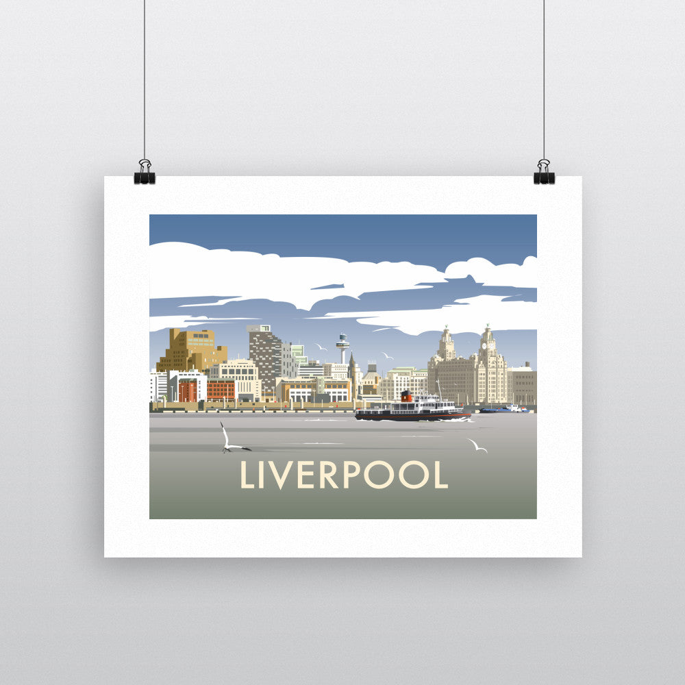 THOMPSON537: Liverpool. Greeting Card 6x6