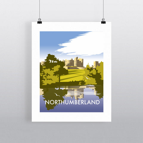 THOMPSON538: Northumberland. Greeting Card 6x6