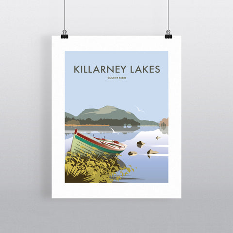 THOMPSON541: Killarney Lakes County Kerry. Greeting Card 6x6