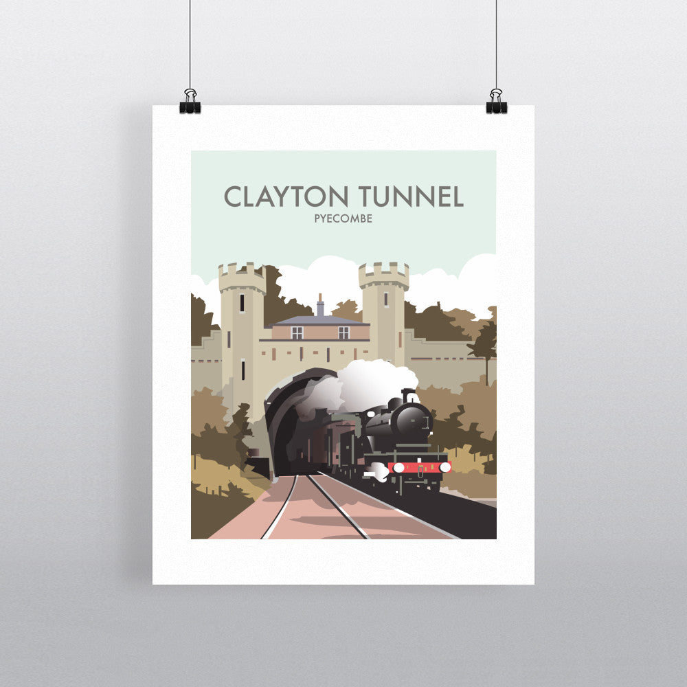 THOMPSON546: Clayton Tunnel Pyecombe. Greeting Card 6x6