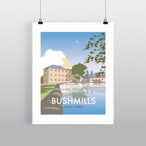 THOMPSON549: Bushmills County Antrim. Greeting Card 6x6