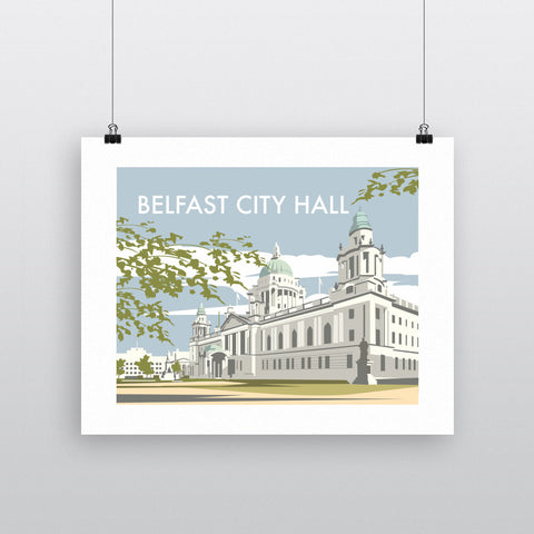 THOMPSON550: Belfast City Hall. Greeting Card 6x6