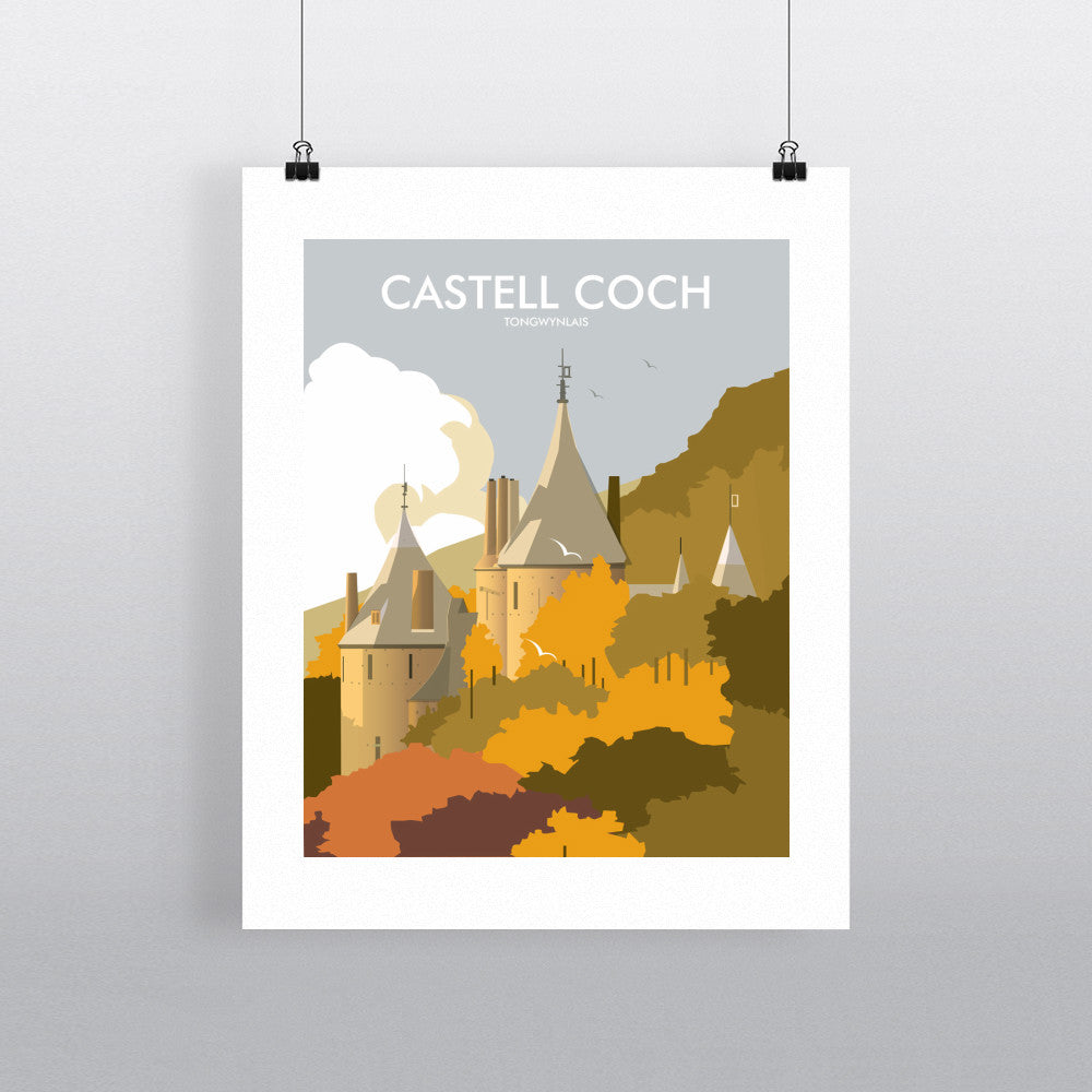 THOMPSON551: Castell Coch Tongwynlais. Greeting Card 6x6