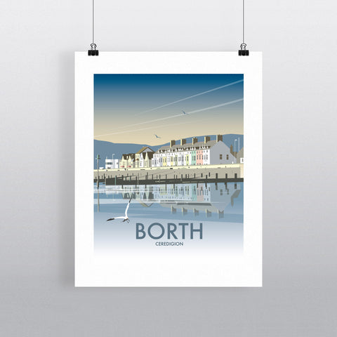 THOMPSON553: Borth Ceredigion. Greeting Card 6x6