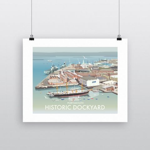 THOMPSON554: Portsmouth Historic Dockyard. Greeting Card 6x6