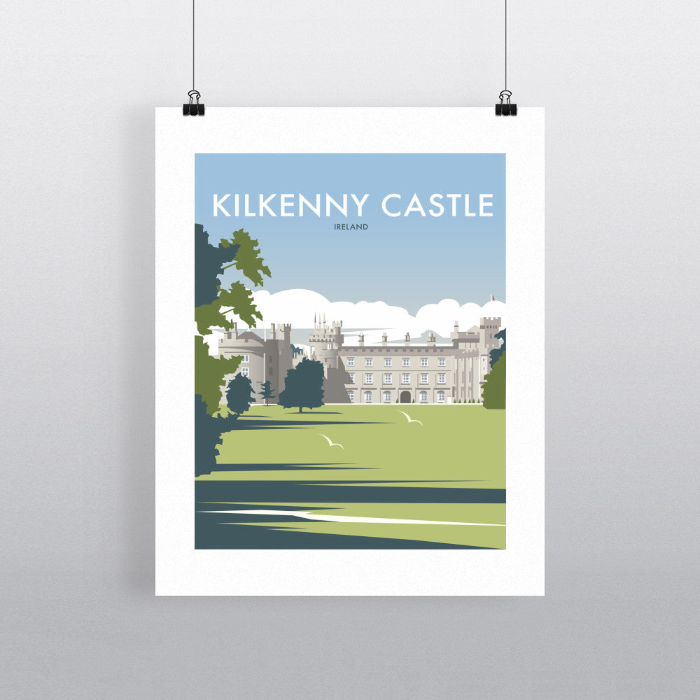 THOMPSON556: Kilkenny Castle Ireland. Greeting Card 6x6