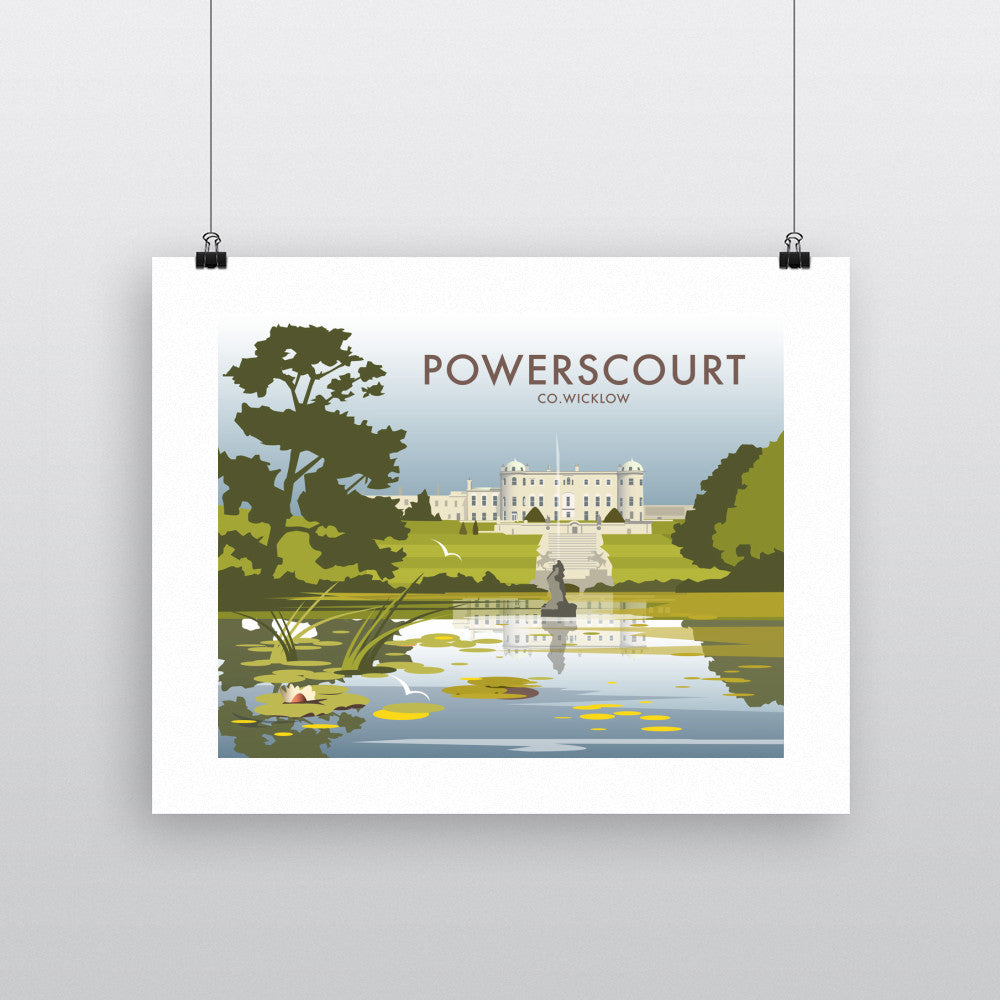 THOMPSON557: Powerscourt Co.Wicklow. Greeting Card 6x6