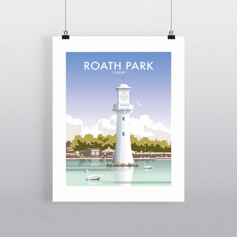 THOMPSON558: Roath Park Cardiff. Greeting Card 6x6