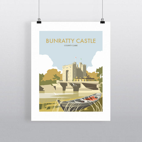 THOMPSON559: Bunratty Castle County Clare. Greeting Card 6x6