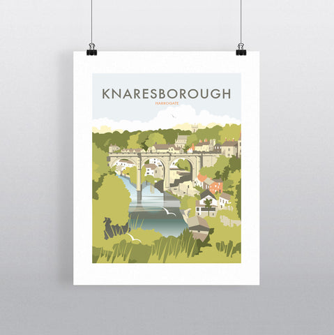 THOMPSON567: Knaresborough Harrogate. Greeting Card 6x6