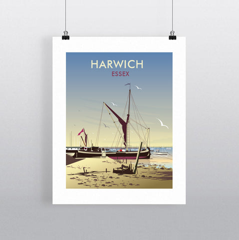 THOMPSON579: Harwich Essex. Greeting Card 6x6