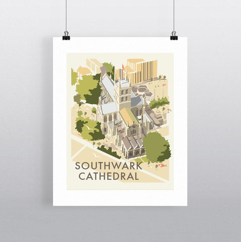 THOMPSON582: Southwark Cathedral. Greeting Card 6x6