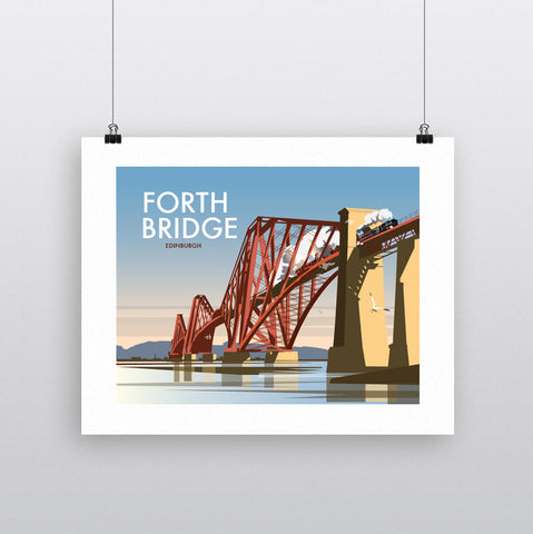 THOMPSON586: Forth Bridge Edinburgh. Greeting Card 6x6