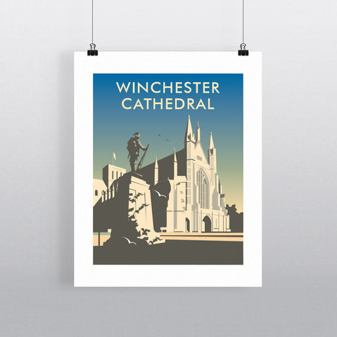 THOMPSON589: Winchester Cathedral. Greeting Card 6x6
