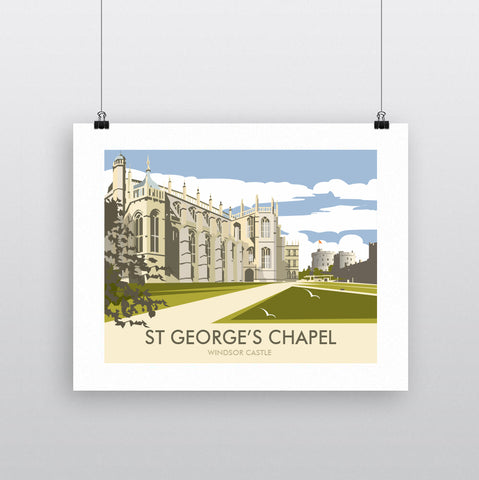 THOMPSON591: St George's Chapel Windsor Castle. Greeting Card 6x6