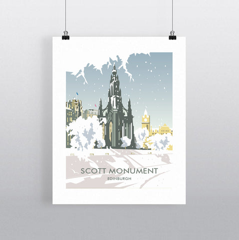 THOMPSON592: Scott Monument Edinburgh Winter. Greeting Card 6x6