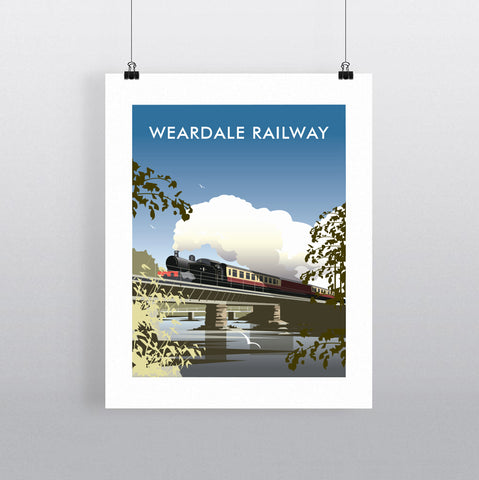 THOMPSON595: Weardale Railway. Greeting Card 6x6