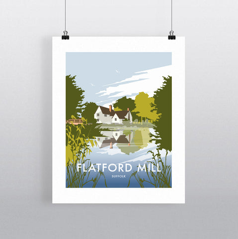 THOMPSON596: Flatford Mill Suffolk. Greeting Card 6x6