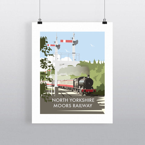 THOMPSON601: North Yorkshire Moors Railway. Greeting Card 6x6