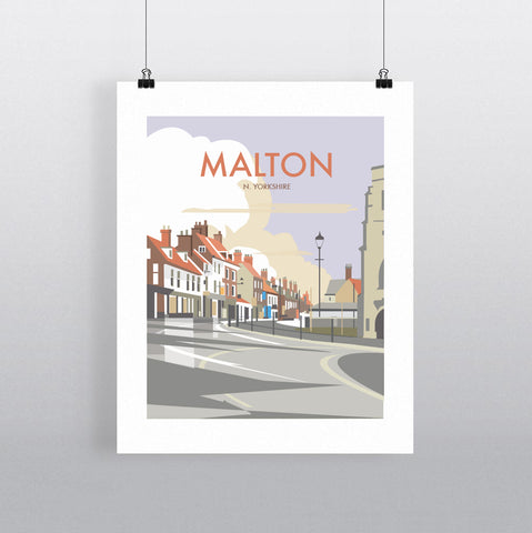 THOMPSON603: Malton North Yorkshire. Greeting Card 6x6