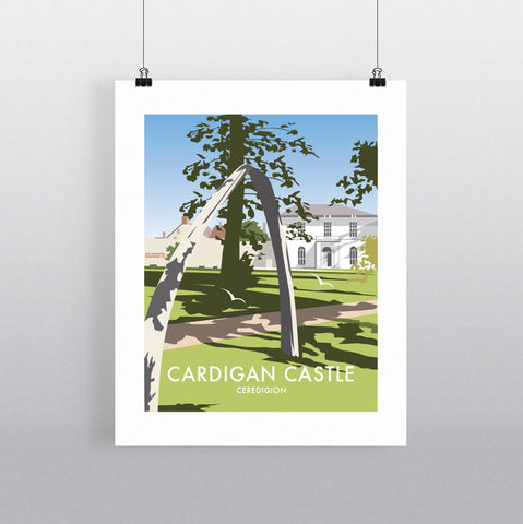 THOMPSON605: Cardigan Castle Ceredigion. Greeting Card 6x6