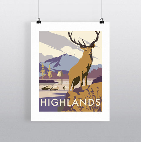 THOMPSON607: Highlands Stag. Greeting Card 6x6