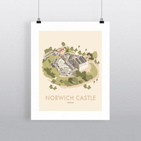 THOMPSON608: Norwich Castle Norfolk. Greeting Card 6x6