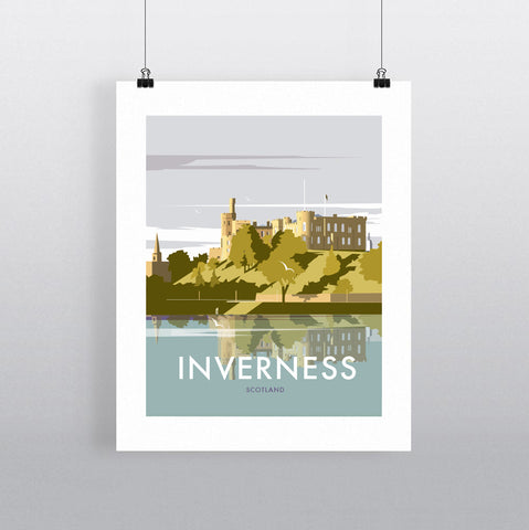 THOMPSON609: Inverness Scotland. Greeting Card 6x6