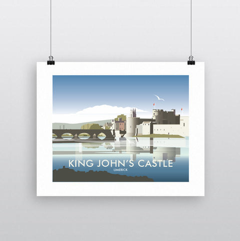THOMPSON613: King John's Castle Limerick. Greeting Card 6x6