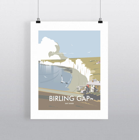 THOMPSON618: Birling Gap East Sussex. Greeting Card 6x6