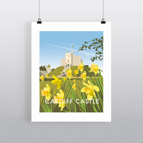 THOMPSON619: Cardiff Castle. Greeting Card 6x6