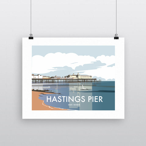 THOMPSON621: Hastings Pier East Sussex. Greeting Card 6x6