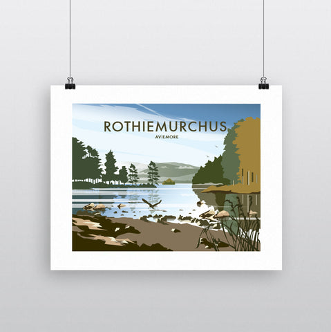 THOMPSON624: Rothiemurchus Aviemore. Greeting Card 6x6