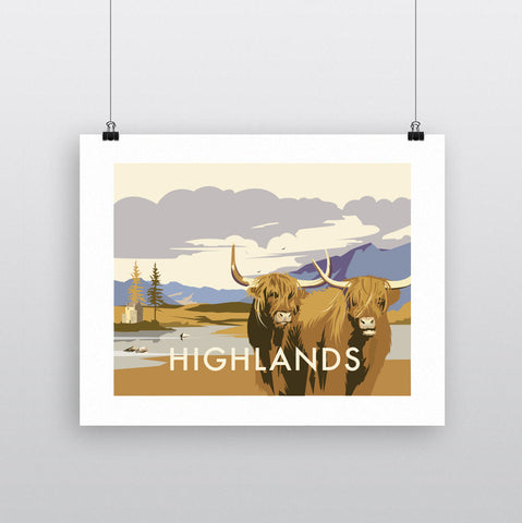 THOMPSON627: Highlands Cattle. Greeting Card 6x6