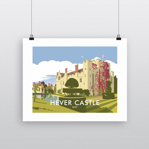 THOMPSON628: Hever Castle Kent. Greeting Card 6x6