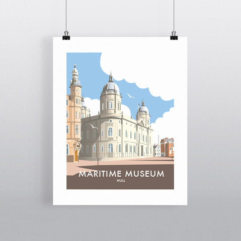 THOMPSON632: Maritime Museum. Greeting Card 6x6