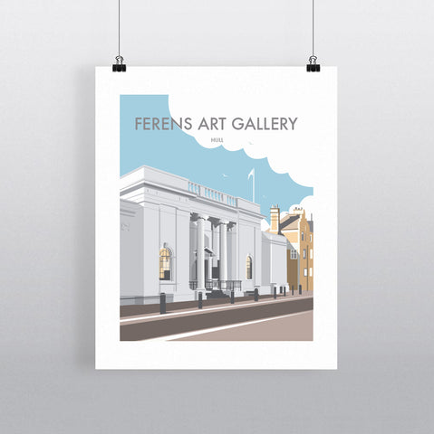 THOMPSON633: Ferens Art Gallery. Greeting Card 6x6
