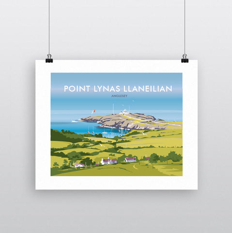 THOMPSON634: Point Lynas Llaneilian. Greeting Card 6x6