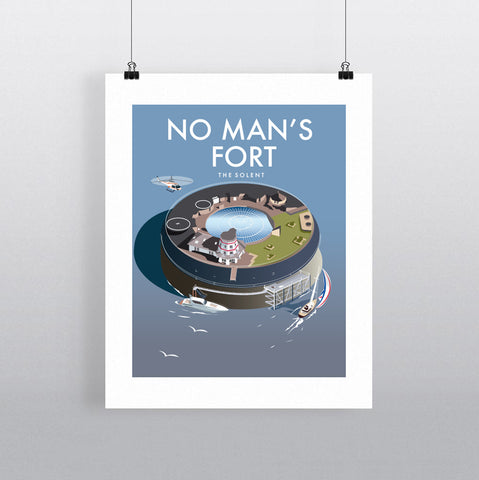 THOMPSON636: No Man's Fort The Solent. Greeting Card 6x6