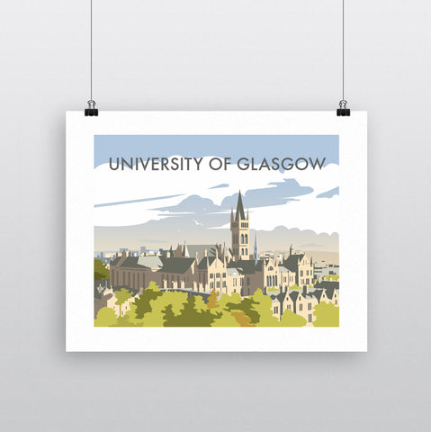 THOMPSON638: University Of Glasgow. Greeting Card 6x6
