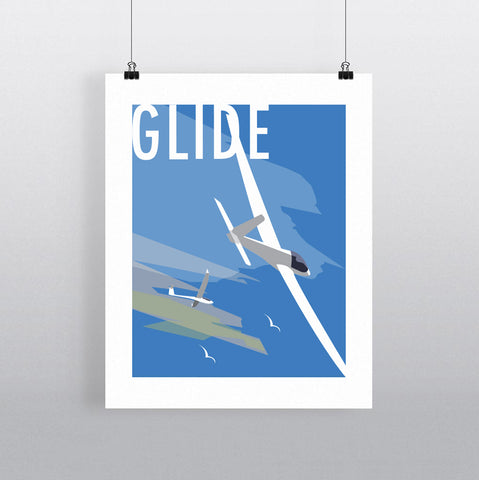 THOMPSON643: Glide. Greeting Card 6x6