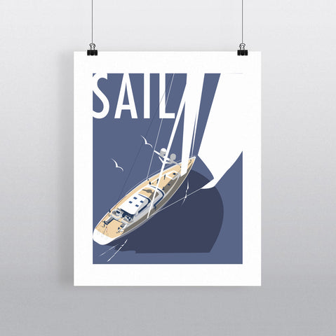 THOMPSON645: Sail. Greeting Card 6x6
