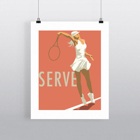 THOMPSON646: Serve. Greeting Card 6x6
